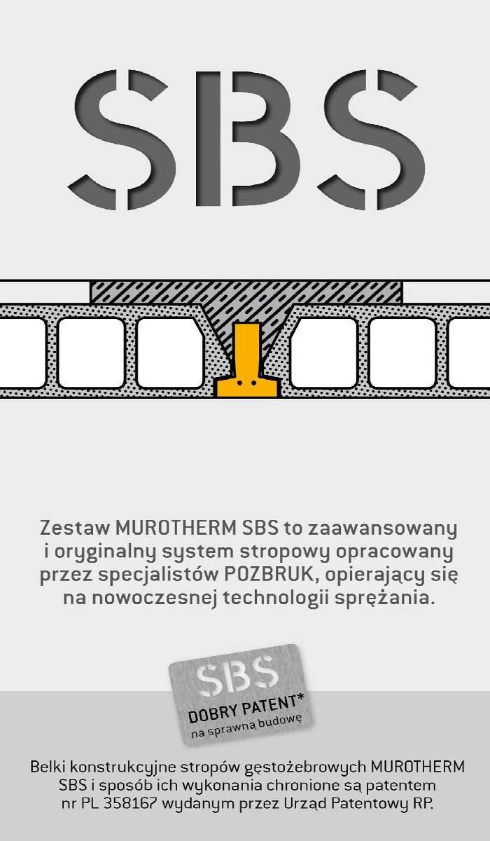 Stropy Zestaw stropowy SBS