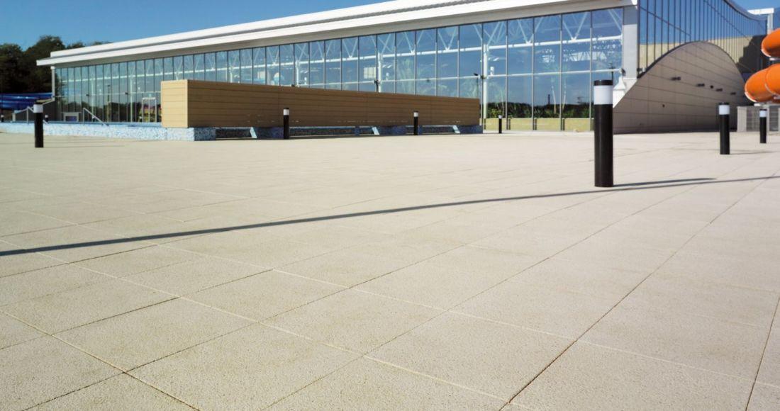 Płyty Presstone powierzchnia gładka 40x40 chodnik