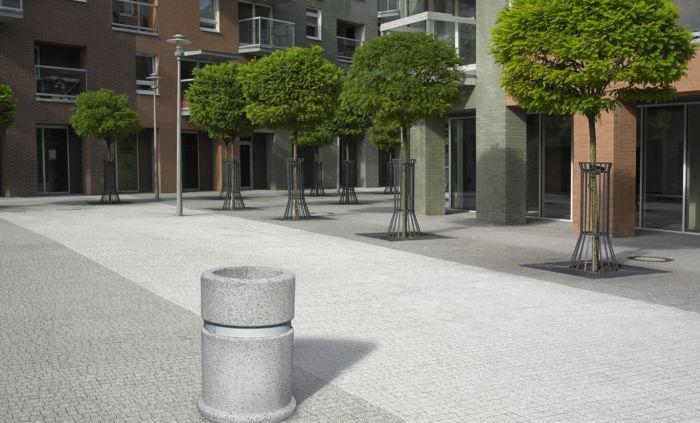 betonowy kosz na odpady pozbruk