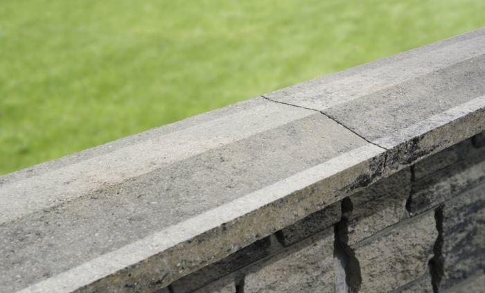 przykrycie liniowe muru pozbruk