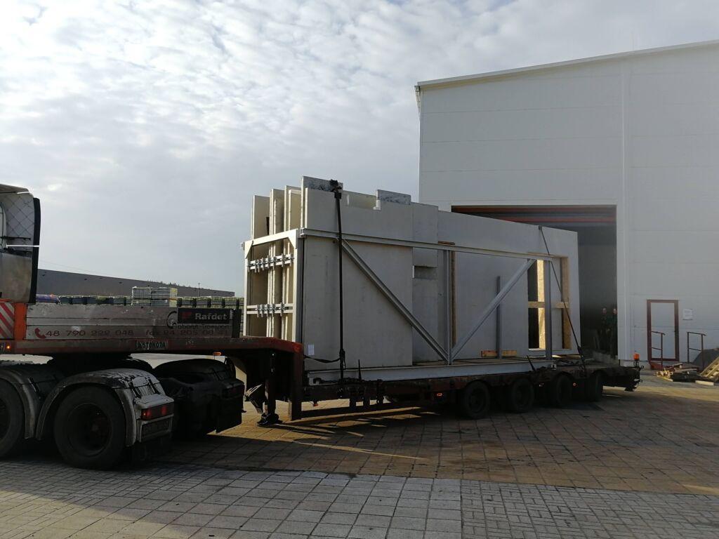 Transport prefabrykatów betonowych