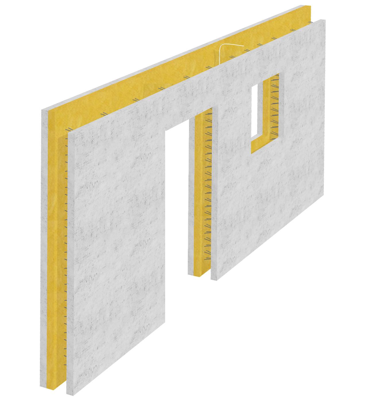 prefabrykowana ściana potrójna
